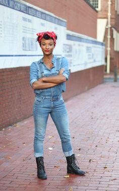 Rosie the Riveter  Halloween, DIY, costumer ideas, fashion, blogger, Vida Fashionista