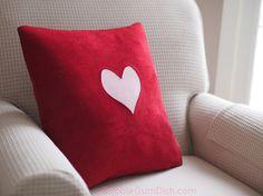 #Love #Red #Heart #Valentine #Pillow Cover Cute by BubbleGumDish.com