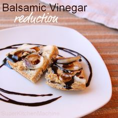 Don't let the simplicity of this recipe fool you. Basic balsamic vinegar reduction is as easy as it is versatile -- all the more reason to put on the creative pants and warm up the Thermomix! How do Thermomix fans use this intense, edgy ingredient? Relish Sauce, Balsamic Glaze Recipes, Whole Food Recipes, Cooking Recipes, Cheesy Breadsticks, Quirky Cooking, Balsamic Reduction, Base Foods, Balsamic Vinegar