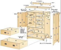 Link Type A Pottery Barn knock off At the link you will find free plans to build this three drawer dresser which and measures