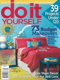 7 best magazine covers images on pinterest magazine covers ribbon damask furniture stencil cutting edge stencilsbetter homes and gardensweekend projectsdiy solutioingenieria Gallery