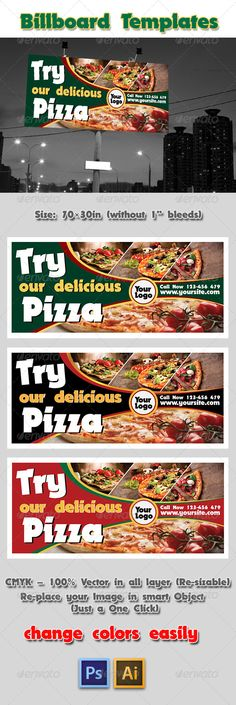 Pizza Billboard Templates