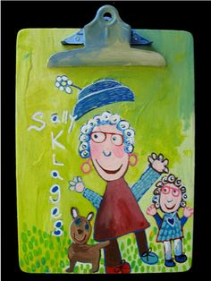 """""""Flying Off Her Head""""  By Goodwill Art Studio & Gallery artist, Sally Klages"""