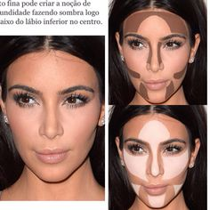 Highlighting and Contouring : How-To Contour A Face Like A Pro - Style O Check Love Makeup, Makeup Tips, Beauty Makeup, Makeup Looks, Hair Makeup, Face Contouring Makeup, Makeup Brushes, Bronze Eye Makeup, Pinterest Makeup