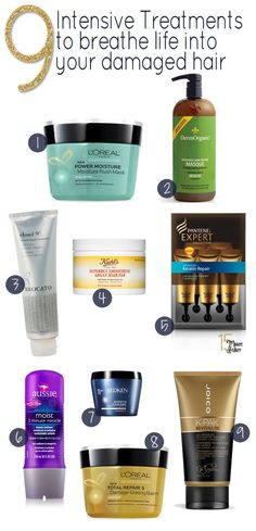 9 Best Intensive Hair Masks - 15 Minute Beauty Fanatic-The best hair treatments for fried and damaged hair! These hair masks will really help your dry and damaged hair look shiny and healthy. Hair Treatment Mask, Hair Treatments, Diy Hairstyles, Pretty Hairstyles, Limpieza Natural, Do It Yourself Fashion, Pelo Natural, Natural Hair Styles, Long Hair Styles