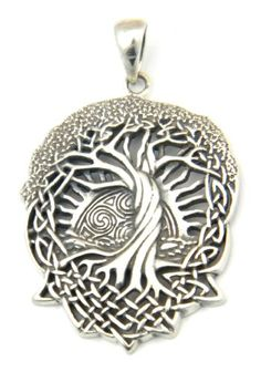 Celtic Tree of Life - Solstice Tree - World Tree Pendant - in Gold-tone high quality Jeweler's Bronze. The Solstice Tree, or Tree of Life, is an important Celtic symbol representing the connection of Más Pagan Jewelry, Viking Jewelry, Jewelry Art, Celtic Symbols, Celtic Art, Wicca, Celtic Tree Of Life, Irish Celtic, Tree Pendant