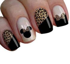 Some of my very most FAQs have to do with my nails! At any time I get my nails done I get tons and also lots of DMs regarding it. What did you do for you nails? Cheetah Nail Designs, Disney Nail Designs, Cheetah Nails, Nail Art Designs, Nails Design, Mickey Mouse Nail Art, Mickey Nails, Minnie Mouse Nails, Fancy Nails