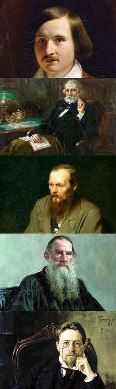 Cinque classici scrittori russi dell'Ottocento
