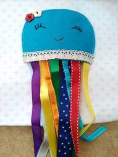 Textilní knížka EMAMA - stránka chobotnice