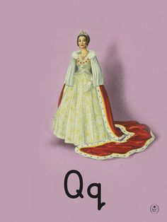 Q is for Queen- Art Print by King and McGaw. 100 years of Ladybird Books.