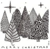 Christmas tree Zentangles