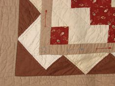 Hand Quilted, Hand Pieced, Embroidered southwest quilt