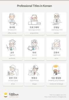 Professional Titles in Korean  Chat to Learn Korean with Eggbun!