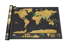 deluxe scratch off world map by thelittleboysroom | notonthehighstreet.com