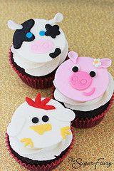 Fondant Animal Cupcake Toppers!