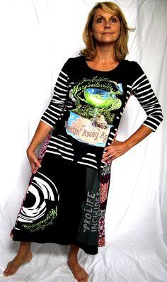 Margaritaville Upcycled Wearable Art T Shirt Dress by maisestudio, $98.00