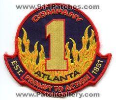 Atlanta Fire Department AFD Company 1 Station Dept Rescue Patch Georgia GA N/S