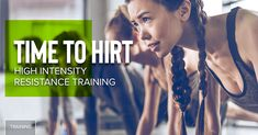 """High-intensity interval training, or HIIT, could just be the most effective method of exercise ever. The fast-paced, heart rate-spiking exercise style moves your muscles based on a formula that can make up enough for your day for even an eight-minute sweat sesh. But if you're not the biggest cardio fan, or if you want anything less than burpees, a HIRT method workout will put the same intensity along with a whole lot stronger.A type of HIIT training, """"high-intensity resistance training""""… Hiit, Cardio, High Intensity Interval Training, Burpees, Health Matters, Workout Videos, Strength, Muscle, Exercise"""