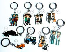 Teen Wolf Key chains by TorakoDragon on Etsy, $5.00