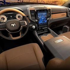The New Ram Heavy Duty is here. Best Ram, Custom Center Console, Car Upholstery, Dirtbikes, Wood Accents, Real Wood, Pickup Trucks, Dodge