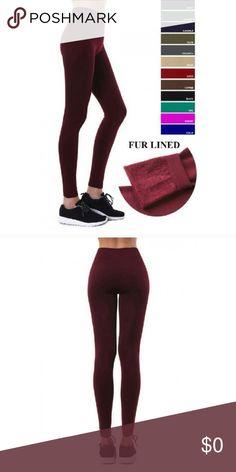 2f5fa4e83fe4c Buy 2 Get Off!🌻Fur Lined Fleece Leggings Fur Lined Fleece Leggings in  Burgundy or Charcoal. Brand New from Fashionomics Boutique.