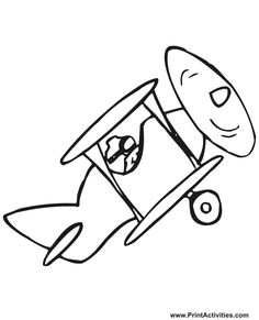This printable biplane coloring picture of an old fashioned biplane is an incredible pick for kids who are biplane enthusiasts. Airplane Coloring Pages, Train Coloring Pages, Animal Coloring Pages, Colouring Pages, Simple Car Drawing, Drawing For Kids, Art For Kids, Kid Art, Animal Paintings