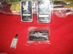 1g palladium , two 5 troy oz silver bars(10 oz)and 2 10 gram silver bars bullion