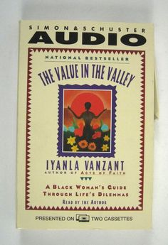 The Value in the Valley Black Woman's Guide Life Dilemmas Vanzant Cassette Tape