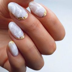 To give you some small white design ideas, we have found 30 classy and stylish white nails ideas for If you want to manicure, you can browse our website from time to time. Round Nail Designs, Marble Nail Designs, Colorful Nail Designs, Gel Nail Designs, Colorful Nails, Nails Design, Basic Nails, Simple Nails, Nails Ideias