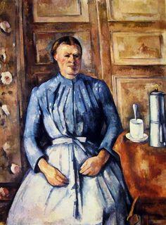 """Paul Cézanne """"Donna con caffettiera"""" (1890-1895), Musée d'Orsay, Parigi."""