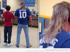 The Forgotten Manning Walmart + Kick-ass Mullet + Preseason Football = Murrica! Now Let's get it on baby! People Of Walmart, Stupid People, Walmart Pictures, Funny Pictures, Mullets, The Martian, I Laughed, Funny Memes, Photoshop