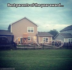 And the award for best parents of the year goes to…