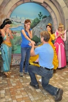 At Disneyland or Universal aka Hogwarts!! | 33 Awesome Marriage Proposals You Couldn't Say No To