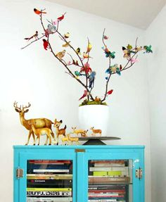 From living exclusive - vintage feel interiors... what a great craft idea... have to give this one a go soon.