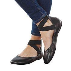 Women's Arabesque Black Leather Ballet Flats - Strappy Zi... http://www.amazon.com/dp/B00NNTCG8O/ref=cm_sw_r_pi_dp_rQpmxb0H8C8S3