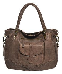 Another great find on #zulily! Antique Brown Cindy Leather Tote #zulilyfinds