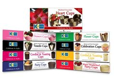 Kane Candy Chocolate Party Cups now in 9 Award Winning varieties!  Create fabulous desserts at home like a world class pastry chef!  www.KaneCandy.com