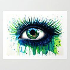 -The+peacock-+Art+Print+by+PeeGeeArts+-+$25.00