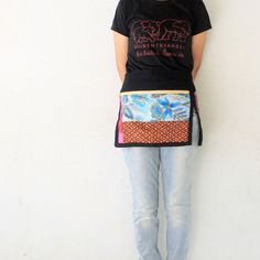 Thai batik Unisex half apron 3 bags Thai batik by meatballtheory