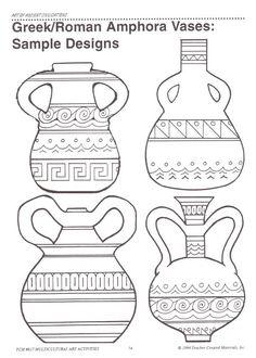 4 Efficient Tricks: Unique Vases For Wedding crystal vases etsy.Vases Centerpieces With Pictures geometric vases medium.Vases Repurpose Tin Cans. Greek Crafts, Greece Art, Rome Antique, Antique Vases, Ancient Greek Art, Grands Vases, Greek Pottery, Vase Design, Paper Vase