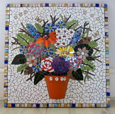 A unique piece of mosaic art personalised by handmadebyhippo on Etsy