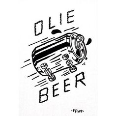 Illustration by adedewo #skate #fun #beer