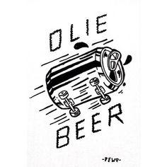 Illustration by adedewo #skate #fun #beer
