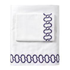 Royal Purple Savoy Links Sheet Set   Serena & Lily