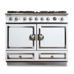 La Cornue Cornufe 110 Provence Blue With Stainless Steel Polished Br Stove And Kitchens