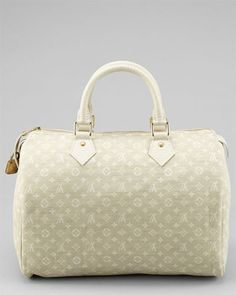 Louis Vuitton Ivory Monogram Mini Lin Speedy 30