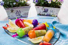 Lody cytrynowe z owocami