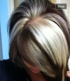 Dramatic, chunky highlights blonde.