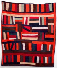 "Gee's Bend Quilts: Lucy Mingo Strip Quilt, 2005. 83"" x 72.5"".  Elizabeth Leach Gallery"
