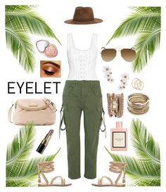 """""""Indy Girl #eyelet"""" by mz-jill on Polyvore featuring Kate Spade, Too Faced Cosmetics, Marc Jacobs, Topshop Unique, Inverni, Sole Society, Yves Saint Laurent, La Mer, Gucci and Bobbi Brown Cosmetics"""